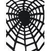 Halloween Plus Size Openwork Spider Tunic T-shirt - BLACK