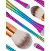 12 Pieces Ombre Color Handle Makeup Brushes Set - COLORFUL
