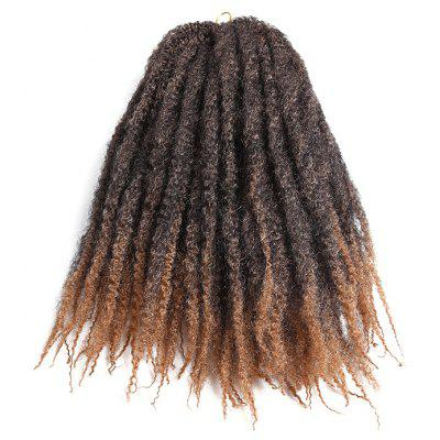 Buy GRADUAL BROWN Long Shaggy Afro Kinky Curly Braids Synthetic Hair Weave for $8.58 in GearBest store