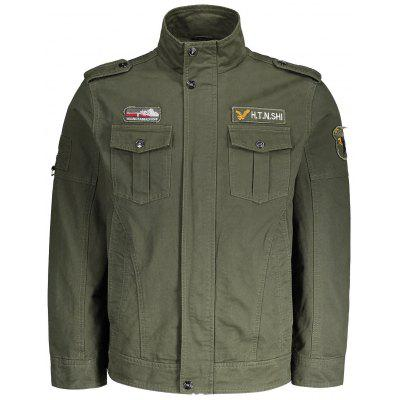 Buy ARMY GREEN 3XL Patch Embroidered Mens Jacket for $56.24 in GearBest store