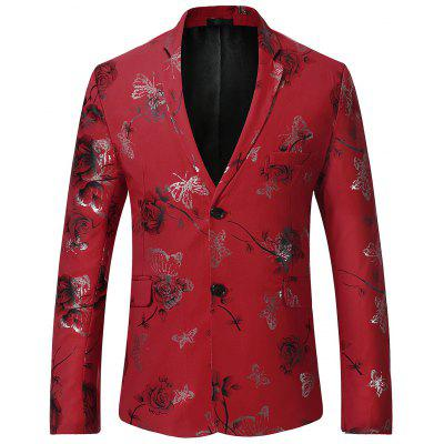 Butterfly Print Casual Floral Blazer