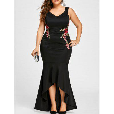 Plus Size V Neck Sleeveless Mermaid Dress