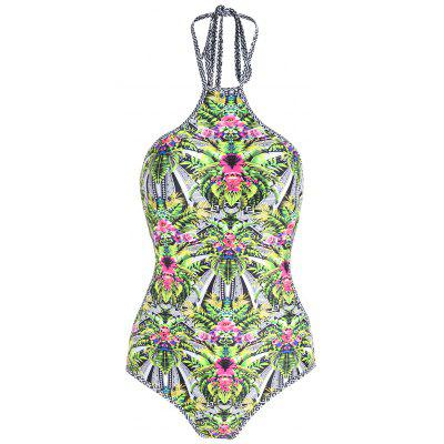 8457d560dc1 Plus Size Tropical Print One Piece Swimsuit -  26.07 Free Shipping ...