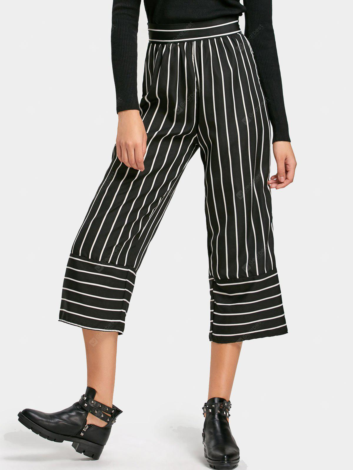 High Rise Striped Loose Pants