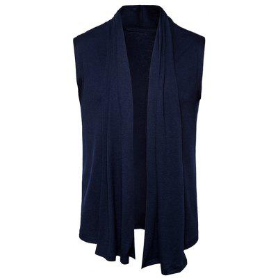 Buy CADETBLUE M Shawl Collar Drape Sleeveless Cardigan for $23.94 in GearBest store
