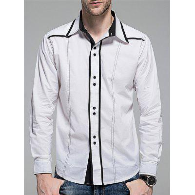 Button Down Contrast Trim Shirt