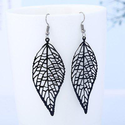 Купить Полые Лист Мотаться Серьги Крюк, Hollow Out Earrings, Leaf Earrings, Birthday Gifts, Hook Earrings, Drop Earrings