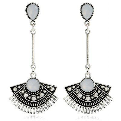 Rhinestone Vintage Waterdrop Sector Earrings