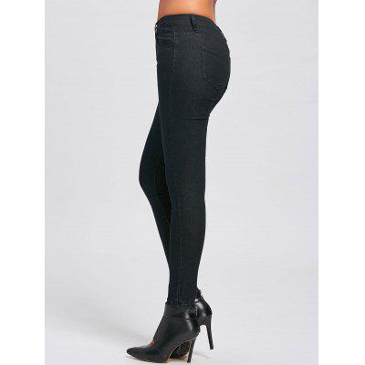 Buy BLACK L Skinny High Waisted Jeans for $22.73 in GearBest store
