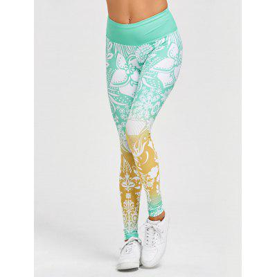 High Waisted Floral Print Gym LeggingsPants<br>High Waisted Floral Print Gym Leggings<br><br>Closure Type: Elastic Waist<br>Fit Type: Skinny<br>Length: Normal<br>Material: Polyester, Spandex<br>Package Contents: 1 x Leggings<br>Pant Style: Pencil Pants<br>Pattern Type: Floral<br>Style: Fashion<br>Waist Type: High<br>Weight: 0.3700kg