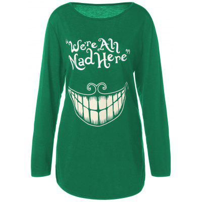 We Are All Mad Here Teeth Print Loose T-shirt