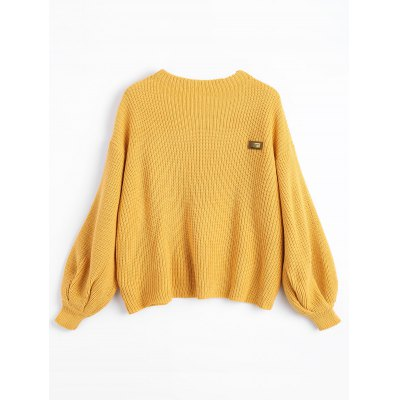 Купить Чехлы Chevron Наружный свитер с капюшоном, Women Sweater, Patched Sweater, Drop Shoulder Sweater, Loose Sweater, Mustard Yellow Sweater, ZAFUL, Пуловеры, полиакрилонитрил