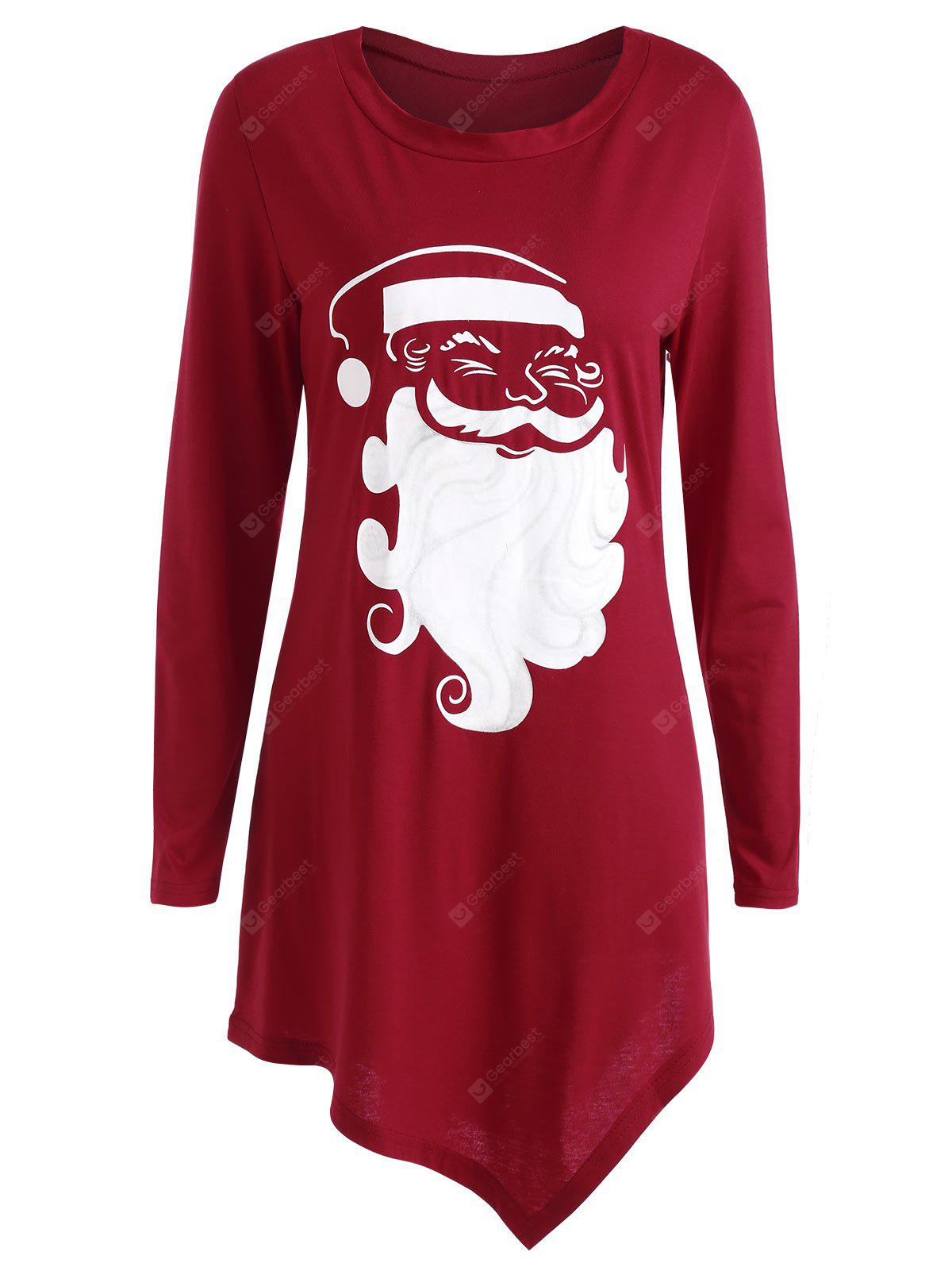 Christmas Santa Claus Asymmetrical T-shirt
