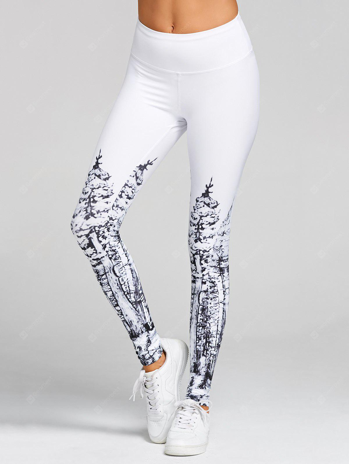Weihnachtsbaum Print hohe Taille Leggings