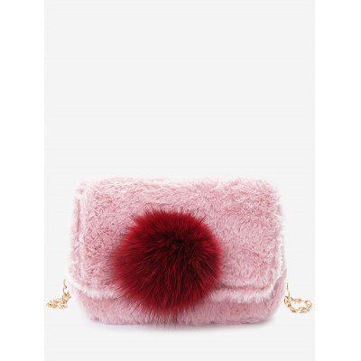 Buy PINK Pompom Chain Crossbody Bag for $19.80 in GearBest store