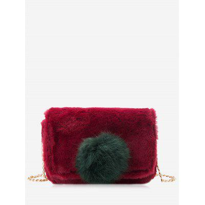 Buy RED Pompom Chain Crossbody Bag for $19.80 in GearBest store