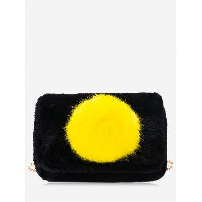 Buy BLACK Pompom Chain Crossbody Bag for $19.80 in GearBest store