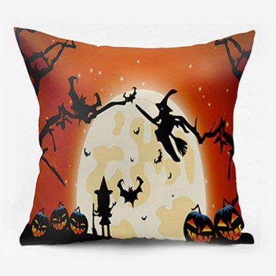 Halloween Witch Pumpkin Lantern Moon Pillowcase