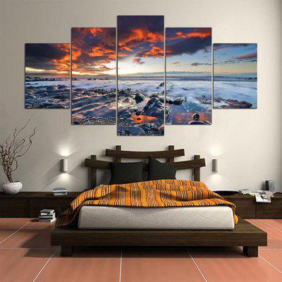 Sea Sunset Pattern Unframed Canvas Paintings