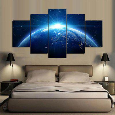 Universe Earth Pattern Split Canvas Painting