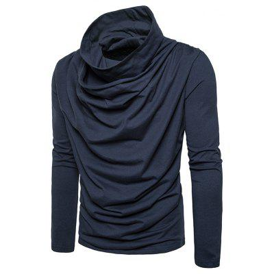 Cowl Neck Accordion Pleat Long Sleeve T-shirtMens Long Sleeves Tees<br>Cowl Neck Accordion Pleat Long Sleeve T-shirt<br><br>Collar: Cowl Neck<br>Material: Cotton, Polyester<br>Package Contents: 1 x T-shirt<br>Pattern Type: Solid<br>Sleeve Length: Full<br>Style: Casual, Streetwear, Fashion<br>Weight: 0.4300kg