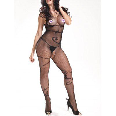 V Neck Fishnet BodystockingsLingerie &amp; Shapewear<br>V Neck Fishnet Bodystockings<br><br>Embellishment: None<br>Material: Polyester<br>Package Contents: 1 x Bodystockings<br>Pattern Type: Solid<br>Weight: 0.1700kg