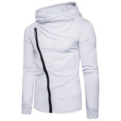 Cowl Neck Accordion Pleat Oblique Zipper T-shirtMens Long Sleeves Tees<br>Cowl Neck Accordion Pleat Oblique Zipper T-shirt<br><br>Collar: Cowl Neck<br>Embellishment: Zippers<br>Material: Cotton, Polyester<br>Package Contents: 1 x T-shirt<br>Pattern Type: Solid<br>Sleeve Length: Full<br>Style: Casual, Streetwear, Fashion<br>Weight: 0.4400kg