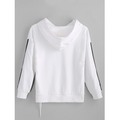 Lace-up Hello Graphic HoodieSweatshirts &amp; Hoodies<br>Lace-up Hello Graphic Hoodie<br><br>Clothing Style: Hoodie<br>Material: Cotton, Spandex<br>Neckline: Hooded<br>Package Contents: 1 x Hoodie<br>Pattern Style: Letter<br>Shirt Length: Regular<br>Sleeve Length: Full<br>Weight: 0.4600kg