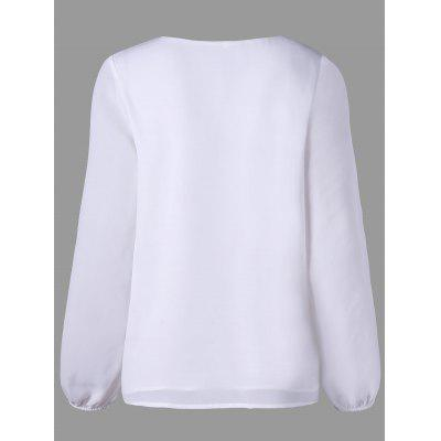 Embroidery Lattice Drawstring BlouseBlouses<br>Embroidery Lattice Drawstring Blouse<br><br>Collar: V-Neck<br>Embellishment: Embroidery<br>Material: Polyester<br>Package Contents: 1 x Blouse<br>Pattern Type: Solid<br>Season: Fall, Spring<br>Shirt Length: Regular<br>Sleeve Length: Full<br>Style: Fashion<br>Weight: 0.2510kg
