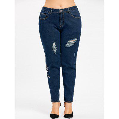Plus Size Floral Embroidered Zipper JeansPlus Size<br>Plus Size Floral Embroidered Zipper Jeans<br><br>Closure Type: Zipper Fly<br>Embellishment: Embroidery<br>Fit Type: Regular<br>Length: Normal<br>Material: Cotton, Polyester<br>Package Contents: 1 x Jeans<br>Pant Style: Pencil Pants<br>Pattern Type: Floral<br>Style: Fashion<br>Waist Type: Mid<br>Weight: 0.7300kg