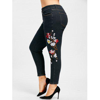 Plus Size Floral Embroidered JeansPlus Size<br>Plus Size Floral Embroidered Jeans<br><br>Closure Type: Zipper Fly<br>Embellishment: Embroidery<br>Fit Type: Regular<br>Length: Normal<br>Material: Jeans, Polyester, Cotton<br>Package Contents: 1 x Jeans<br>Pant Style: Pencil Pants<br>Pattern Type: Floral<br>Style: Casual<br>Waist Type: Mid<br>Weight: 0.6300kg