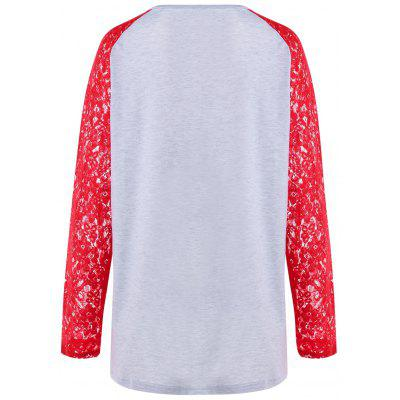 Christmas Plus Size Lace Trim Raglan Sleeve TeePlus Size Tops<br>Christmas Plus Size Lace Trim Raglan Sleeve Tee<br><br>Collar: Round Neck<br>Embellishment: Lace<br>Material: Polyester, Spandex<br>Package Contents: 1 x Top<br>Pattern Type: Animal<br>Season: Spring, Fall<br>Shirt Length: Long<br>Sleeve Length: Full<br>Style: Casual<br>Weight: 0.2500kg