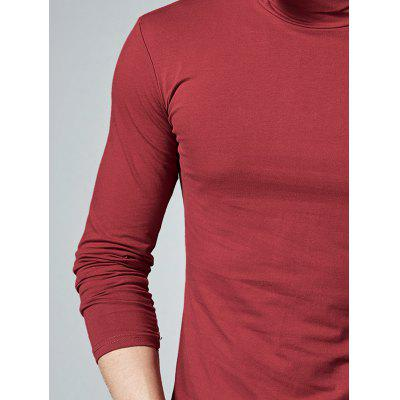 High Neck Stretch Long Sleeve TeeMens Long Sleeves Tees<br>High Neck Stretch Long Sleeve Tee<br><br>Collar: Turtleneck<br>Material: Polyester, Spandex<br>Package Contents: 1 x T-shirt<br>Pattern Type: Solid<br>Season: Fall, Summer<br>Sleeve Length: Full<br>Style: Casual<br>Weight: 0.3100kg