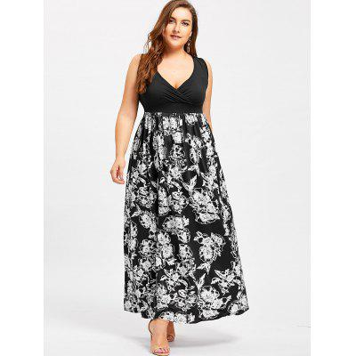 Surplice Empire Waist Flower Plus Size DressPlus Size Dresses<br>Surplice Empire Waist Flower Plus Size Dress<br><br>Dresses Length: Floor-Length<br>Material: Cotton, Polyester<br>Neckline: Plunging Neck<br>Package Contents: 1 x Dress<br>Pattern Type: Figure<br>Season: Summer, Spring, Fall<br>Silhouette: A-Line<br>Sleeve Length: Sleeveless<br>Style: Casual<br>Waist: Empire<br>Weight: 0.5050kg<br>With Belt: No