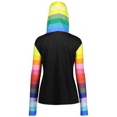 Rainbow Panel Plus Size Kangaroo Pocket HoodiePlus Size Tops<br>Rainbow Panel Plus Size Kangaroo Pocket Hoodie<br><br>Material: Polyester, Spandex<br>Package Contents: 1 x Hoodie<br>Pattern Style: Others<br>Season: Fall, Spring<br>Shirt Length: Regular<br>Sleeve Length: Full<br>Style: Fashion<br>Weight: 0.4200kg
