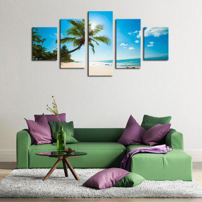 Coconut Tree Pattern Unframed Canvas Paintings