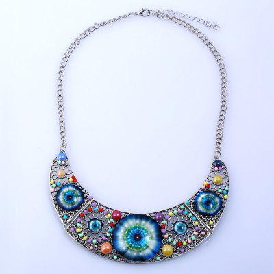 Cat Eye Design Hollow Beaded Necklace