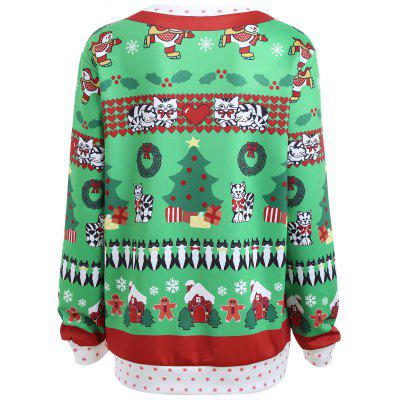 Plus Size Funny Christmas Kitten SweatshirtPlus Size Tops<br>Plus Size Funny Christmas Kitten Sweatshirt<br><br>Material: Polyester<br>Package Contents: 1 x Sweatshirt<br>Pattern Style: Animal,Figure,Heart,Print<br>Season: Fall, Winter<br>Shirt Length: Regular<br>Sleeve Length: Full<br>Style: Fashion<br>Weight: 0.3600kg