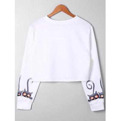 Plus Size Cartoon Print Crop SweatshirtPlus Size Tops<br>Plus Size Cartoon Print Crop Sweatshirt<br><br>Material: Polyester, Spandex<br>Package Contents: 1 x Sweatshirt<br>Pattern Style: Animal<br>Season: Fall, Spring<br>Shirt Length: Short<br>Sleeve Length: Full<br>Style: Casual<br>Weight: 0.3000kg
