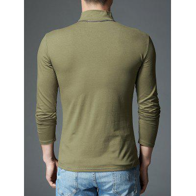 Mock Neck Stretch Long Sleeve TeeMens Long Sleeves Tees<br>Mock Neck Stretch Long Sleeve Tee<br><br>Collar: Turtleneck<br>Material: Polyester, Spandex<br>Package Contents: 1 x T-shirt<br>Pattern Type: Solid<br>Season: Fall, Summer<br>Sleeve Length: Full<br>Style: Casual<br>Weight: 0.3300kg