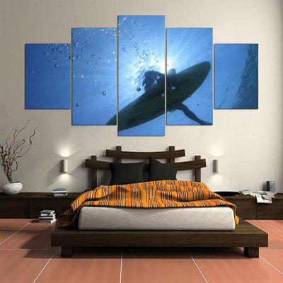 Wall Art Whale Print Unframed Split Canvas Paintings