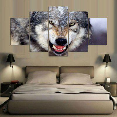 Wolf Pattern Wall Art Split Canvas Paintings