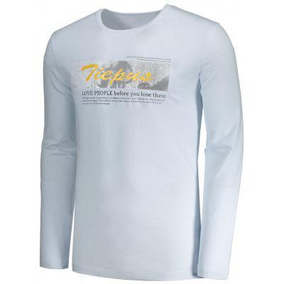 Graphic Tiepus Mens T-shirtMens Long Sleeves Tees<br>Graphic Tiepus Mens T-shirt<br><br>Collar: Round Neck<br>Material: Polyester<br>Package Contents: 1 x T-shirt<br>Pattern Type: Letter<br>Season: Fall<br>Sleeve Length: Full<br>Style: Casual<br>Weight: 0.3500kg