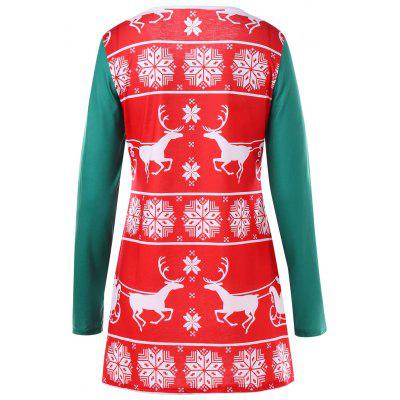 Christmas Reindeer Tunic TopBlouses<br>Christmas Reindeer Tunic Top<br><br>Collar: Round Neck<br>Material: Polyester, Spandex<br>Package Contents: 1 x Top<br>Pattern Type: Animal<br>Season: Fall, Spring<br>Shirt Length: Long<br>Sleeve Length: Full<br>Style: Casual<br>Weight: 0.2600kg