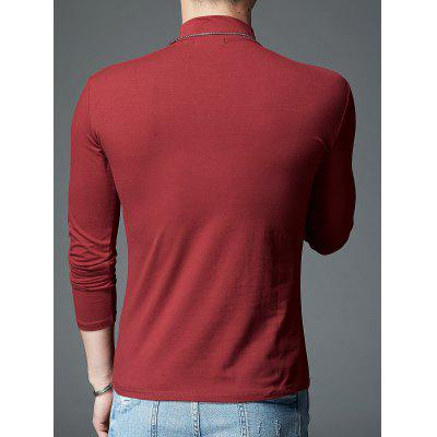 Mock Neck Stretch Long Sleeve TeeMens Long Sleeves Tees<br>Mock Neck Stretch Long Sleeve Tee<br><br>Collar: Turtleneck<br>Material: Spandex, Polyester<br>Package Contents: 1 x T-shirt, 1 x T-shirt<br>Pattern Type: Solid<br>Season: Fall, Summer, Summer<br>Sleeve Length: Full<br>Style: Casual<br>Weight: 0.3300kg, 0.3300kg