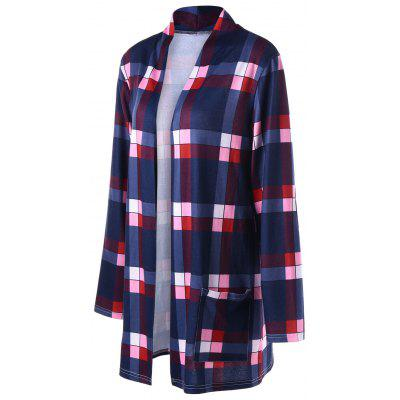 Plaid Drop Pockets CardiganSweaters &amp; Cardigans<br>Plaid Drop Pockets Cardigan<br><br>Collar: Collarless<br>Material: Polyester, Spandex<br>Package Contents: 1 x Cardigan<br>Pattern Type: Plaid<br>Season: Spring, Fall<br>Sleeve Length: Full<br>Style: Casual<br>Type: Cardigans<br>Weight: 0.3100kg