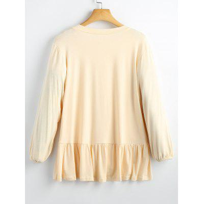 High Low Flounces SweatshirtSweatshirts &amp; Hoodies<br>High Low Flounces Sweatshirt<br><br>Clothing Style: Sweatshirt<br>Material: Cotton, Polyester<br>Package Contents: 1 x Sweatshirt<br>Pattern Style: Solid<br>Shirt Length: Regular<br>Sleeve Length: Full<br>Weight: 0.3700kg