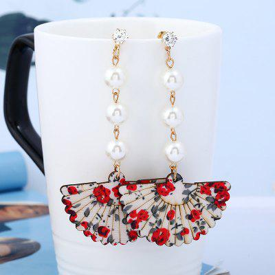 Rhinestone Pearl Floral Fan Shape Drop EarringsEarrings<br>Rhinestone Pearl Floral Fan Shape Drop Earrings<br><br>Earring Type: Drop Earrings<br>Gender: For Girls,For Lovers',For Women<br>Length: 9.8cm<br>Package Contents: 1 x Earring(Pair)<br>Shape/Pattern: Geometric<br>Style: Classic<br>Weight: 0.0120kg