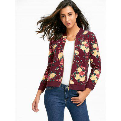 Zipper Fly Floral Print Bomber JacketJackets &amp; Coats<br>Zipper Fly Floral Print Bomber Jacket<br><br>Clothes Type: Jackets<br>Collar: Stand-Up Collar<br>Material: Polyester<br>Package Contents: 1 x Jacket<br>Pattern Type: Floral<br>Season: Fall, Spring<br>Shirt Length: Regular<br>Sleeve Length: Full<br>Style: Fashion<br>Type: Slim<br>Weight: 0.2800kg