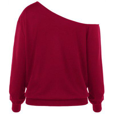 Plus Size Merry Christmas Skew Collar SweatshirtPlus Size Tops<br>Plus Size Merry Christmas Skew Collar Sweatshirt<br><br>Material: Polyester, Spandex<br>Package Contents: 1 x Sweatshirt<br>Pattern Style: Letter<br>Season: Fall, Spring<br>Shirt Length: Regular<br>Sleeve Length: Full<br>Style: Casual<br>Weight: 0.3000kg